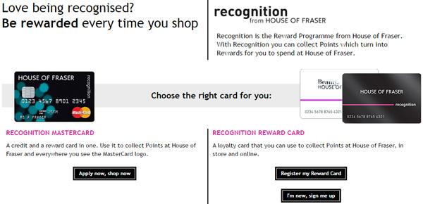 house-of-fraser-reward-card